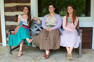 "Playing the Magrath sisters in ""Crimes of the Heart"" are (from left) Susan Creech, Becca Trimbur and  Elizabeth McKinney."