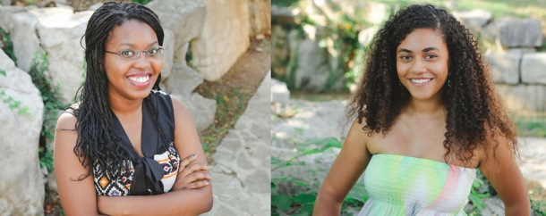 Gatton Academy seniors Aline Iirhamye (left) and Naomi Kellogg (right) have been recognized as semifinalists in the National Achievement Scholarship Program.