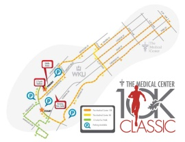 The Medical Center 10K Classic will begin and end on the WKU campus. Several streets near campus will be closed Saturday morning.