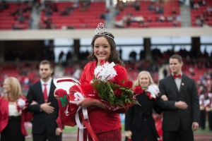 Taylor Emberton of Glasgow was crowned Homecoming queen on Oct. 26. (WKU photo by Clinton Lewis)