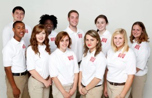 This year's Bonner Leadership Scholars at WKU are: (front row from left) Raymond Smith, Katherine Hall, Coutney Ritchie, Lejla Mehmedovic, Grace Gilliland; (back row from left) Kurtis Spears, Joanna Williams, Daniel Banks, Erin Evans, Jillian Weston.