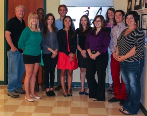 Members of Imagewest's fall 2013 team are: Back Row: (from left) Mark Simpson, Nick Gilyard, Jordan Kassel and Samara Heavrin. Front Row: Nicole Coomer, Penny Sprigg, Mollee Bellamy, Candace Ramirez, Rachael Fusting, Andrew Shaneyfelt and Summer Bolton.