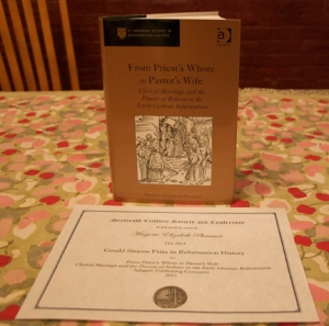 Dr. Beth Plummer's book received the Gerald Strauss Prize in Reformation History.