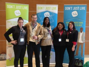 Among the WKU students who attended this week's Louisville Innovation Summit were (from left) Alyxandra Fey, Joseph McCarty, Kiara Edwards, Darla Hayden and Olivia Key.