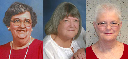 The 2014 inductees into the Gov. Louie B. Nunn Kentucky Teacher Hall of Fame are (from left) Golda P. Walbert, Debra Burgess and Cynthia S. Wooden.