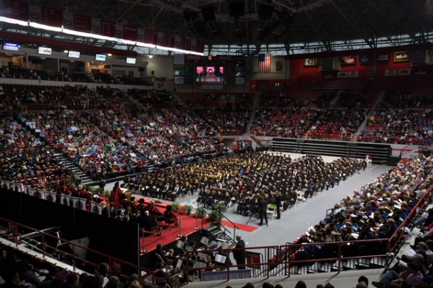 WKU conducted morning and afternoon ceremonies Dec. 14 as part of the 174th Commencement. (WKU photo by Clinton Lewis)