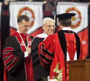 Zuheir Sofia was awarded an honorary degree of Doctor of Business Leadership. (WKU photo by Clinton Lewis)