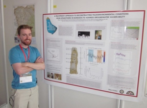 During the International Congress on Speleology, WKU student Gilman Ouellette presented his graduate thesis work on Paleoclimate in Barbados.