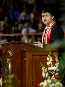 Dylan Ward was recognized as the Ogden Foundation Scholar. (WKU photo by Bryan Lemon)