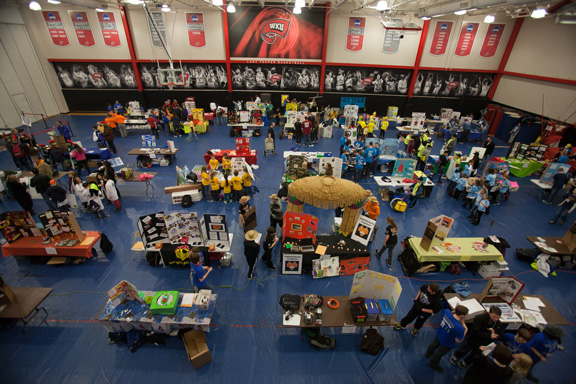 WKU hosted 40 teams for the Kentucky FIRST LEGO League State Robotics Championship on Jan. 25. (WKU photo by Clinton Lewis)