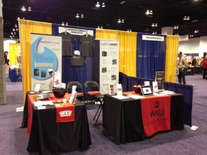 An expo booth at the Geological Society of America meeting showcased WKU's Department of Geography and Geology.