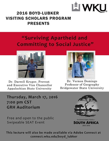 The Boyd-Lubker Visiting Scholars Program will be presented at 7 p.m. March 17 at Gary Ransdell Hall Auditorium.