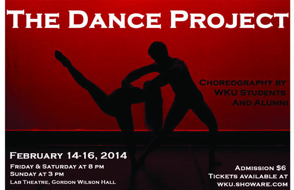 The Dance Project will be presented Feb. 14-16 at Gordon Wilson Hall Lab Theatre.