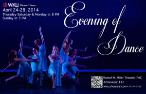 Evening of Dance will be presented April 24-28. Contact: Theatre & Dance, (270) 745-5845.