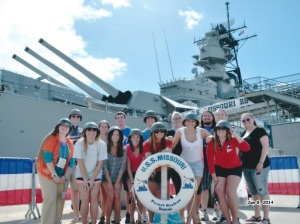 WKU students visited Pearl Harbor during a Winter Term 2014 course in Hawaii.