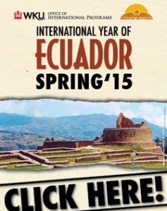 WKU's International Year of Ecuador continues during the spring 2015 semester.