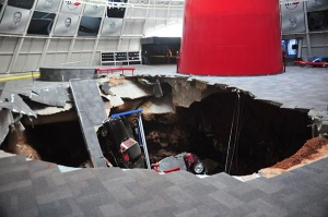 The sinkhole at National Corvette Museum (Photo from National Corvette Museum)