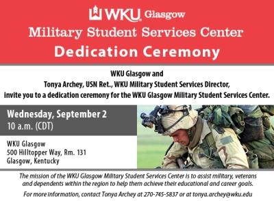 WKU-G Military Serv Dedication Ceremony - digital graphic 612x450
