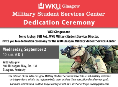 WKU-G Military Serv Dedication Ceremony - digital graphic 612x450
