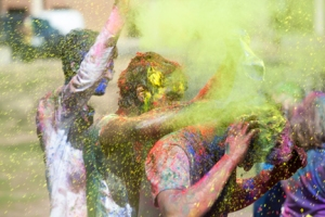 Members of the Indian Student Association celebrated Holi, the Festival of Colors in India, on the WKU South Lawn on March 15. (WKU photo by Clinton Lewis)