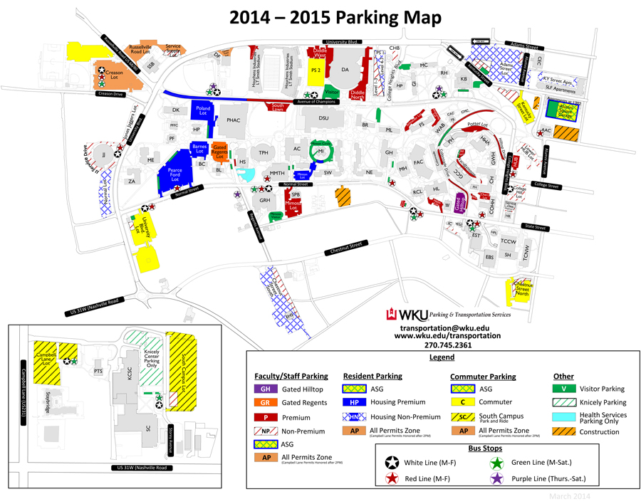 Parking Transit Improvements Planned For 2014 2015 At Wku Wku