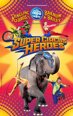 Tickets go on sale April 22 for Ringling Bros. and Barnum & Bailey Presents Super Circus Heroes! May 30-June 2 at WKU's Diddle Arena.
