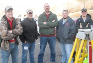 Surveying team members (from left): Kent Jones, Kyle Parks, Matt Groves, Ben Mullins and Justin Hopkins. Not pictured: Dylan Jones.