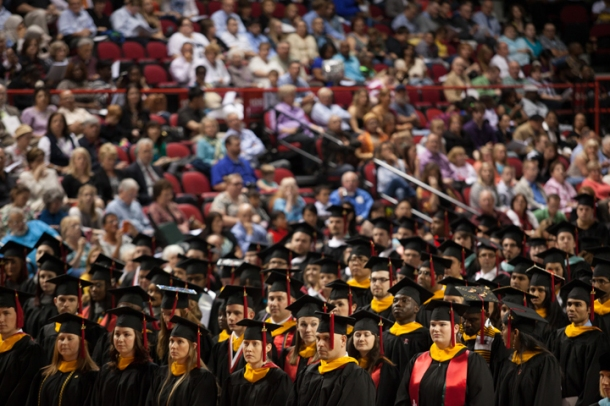 The graduate ceremony began WKU's 175th Commencement on May 16. (WKU photo by Clinton Lewis)