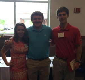 WKU students who attended the KAHCF Quality Summit included (from left) Madison Shirley, Brent Stephens and Parker Kuhn.
