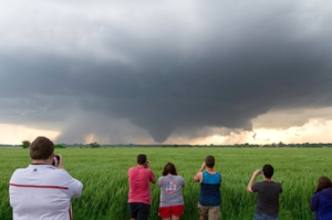WKU storm chasers captured this tornado near Bennington, Kan., on May 28, 2013. (Photo by Josh Durkee)