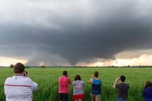 WKU storm chasers captured this tornado near Bennington, Kan., on May 28, 2013. (Photo by Josh Durkee)