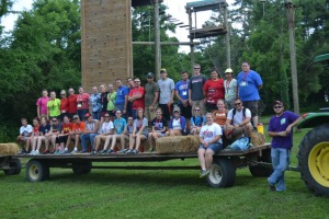 Participants in the 2014 ASSET Conference learned problem-solving skills at the WKU Challenge Course.