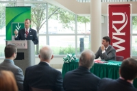 WKU President Gary Ransdell made remarks at the signing ceremony.