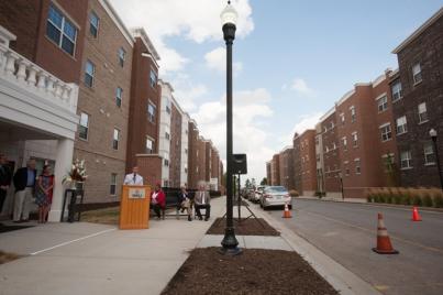 WKU President Gary Ransdell spoke at the ceremony.