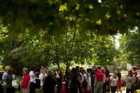 Scenes from the international student picnic at the President's Home on Aug. 12..