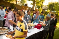 Scenes from the international student picnic at the President's Home on Aug. 12.
