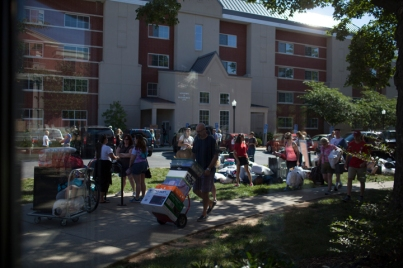 Honors College students moved in to Minton Hall on Aug. 14.