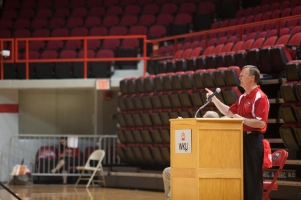 WKU President Gary Ransdell welcomed WKU's Class of 2018 to campus during MASTER Plan Convocation Aug. 17.
