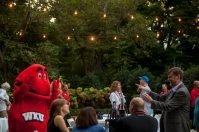 New faculty members attended a picnic at the President's Home on Aug. 19.