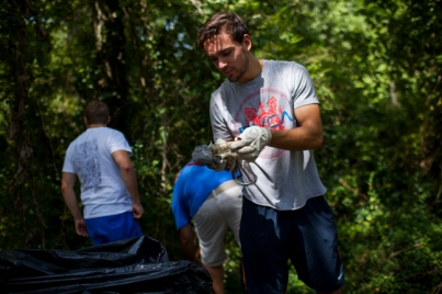 Scenes from Big Red's Blitz community service event on Aug. 21.