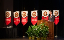 WKU President Gary Ransdell addressed faculty and staff.