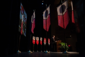 Scenes from the President's Opening Convocation on Aug. 22.