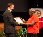 Ometha Doss was the faculty/staff recipient of the 14th annual President's Award for Diversity.