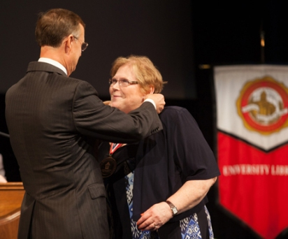 Dr. Beverly Siegrist was recognized as the newest University Distinguished Professor.