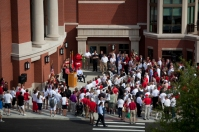 Scenes from the Downing Student Union dedication and ribbon cutting on Aug. 29.