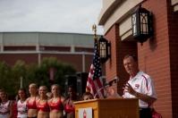 WKU President Gary Ransdell spoke at the DSU grand opening.