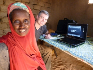 A Fulani woman in the village of Kakassi shared that she was taught by WKU graduate student Jonathan Oglesby during an earlier research trip to West Africa.