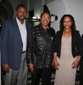 WKU faculty member William Mkanta (left) and his wife, Susan, met with Tanzania President Jakaya Kikwete (center).
