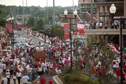 Scenes from pregame festivities Aug. 29.