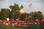 The Big Red Marching Band performed at WKU's opening football game on Aug. 29.